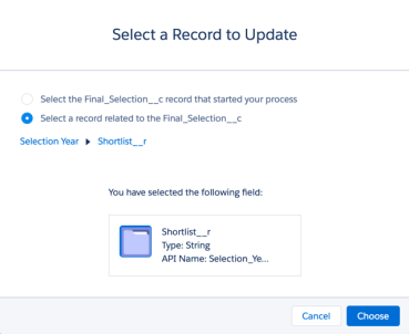 Select Record to Update