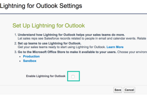 A quick guide to setting up Lightning for Outlook