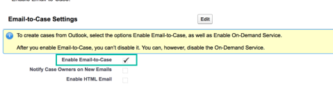 Enable Email to Case